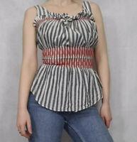 Vivienne Westwood Anglomania Top Size 42 Milkmaid Peasant Boho 100% Cotton