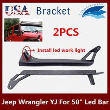 Wrangler YJ Upper & Lower Mount Brackets For jeep 50''Offroad Boat LED Light Bar