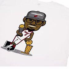Adidas 2012 Champion Miami Heat LeBron James Shirt White XXL