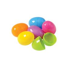 12pcs Easter Plastic Eggs 2 Part Fillable Party Favor Toy Filler Surprise Hunt
