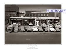 VW Garage Stourbridge Beetle Variant  Van Print Picture Signed Limited Edition