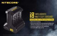 Nitecore i8 - Intellicharger - 8-Schacht-Ladegerät für Li-Ion NiCd NiMH