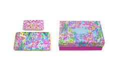 Lilly Pulitzer TRINKET TRAY SET Fan Sea Pants S/2 Ceramic Jewelry Small & Large
