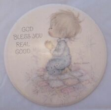 Vintage Betsey Clark Hallmark Cards love dots Button Pin God Bless You Real Good