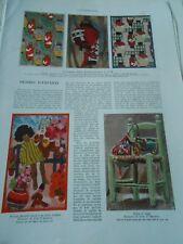 Dessins d'Enfants Lampions Japonais Panneau Illustration Print 1930