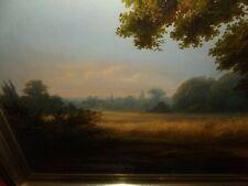 Bild, Ölbild, Leinwand, groß, antik,  gerahmt, Landschaft, signiert, Nr. 77