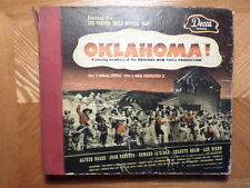 "DECCA 10"" 6-78 RECORD SET 359/OKLAHOMA/ ALFRED DRAKE/VG+/EX/ONE RECORD CRACKED"