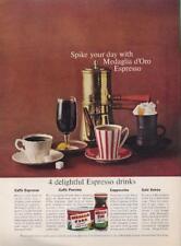 1962 Medaglia d'Oro Espresso PRINT AD Fantastic detailed vintage ad