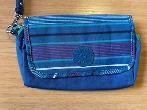 Kipling Green and Blue Clutch Bag