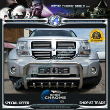 FITS TO DODGE NITRO BULL BAR CHROME AXLE NUDGE PUSH A-BAR 60mm 2007+Onwards NEW