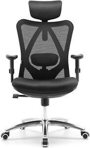 SIHOO Ergonomic Office Chair, Wheel, Mesh Back, Adjustable Height Home Black