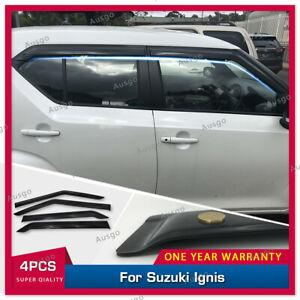 AUS Luxury Weather Shields Weathershields Window Visor for Suzuki IGNIS 2016+ #T