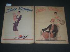 1927 MODE PRATIQUE MAGAZINE FRENCH FASHION MAGAZINE LOT OF 2 - H 997