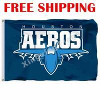 Houston Aeros Logo Flag AHL American Hockey League 2018 Banner 3X5 ft