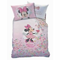 Officiel Minnie Mouse Bloom Set Housse de Couette Simple Coton Mix Filles disney