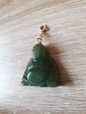 Vintage Jade Pendant Buda  with Gold 333