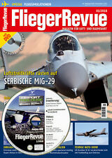 fliegerrevue 01 2018 con dvd simulatore di Volo Aeroporto TOULOUSE SERBO MIG-29