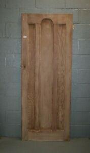 """Reclaimed 1930's 3 Panel Pine Door 29 3/4"""" x 77"""" Internal  ref 108A"""