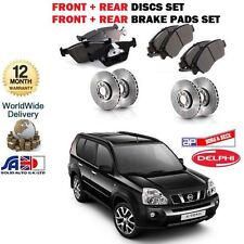 FOR NISSAN X-TRAIL 2.0 2.5 2.0 2007-2010 FRONT + REAR BRAKE DISCS + DISC PAD KIT