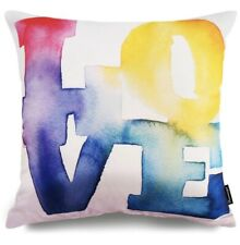 "LOVE Water Paint Decorative Throw Pillow Case Cushion Cover 18""X18"" NEW"