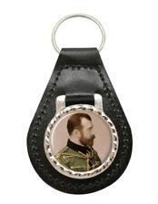 Czar Nicholas II de Russie Cuir Clé Fob