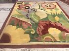VINTAGE NEPAL MODERN ABSTRACT DESIGN ORIENTAL RUG  HAND KNOTTED WOOL 8' X 10'