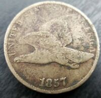 1857 Flying Eagle Cent (Fine & A Little Rough but Attractive)