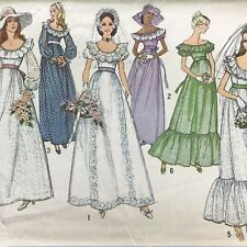 Vtg 1970s Misses Wedding Bridal Or Bridesmaid Dress Sz 10 Bust 32 1/2  6343