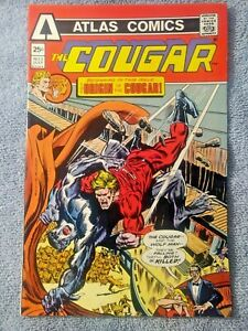 #2~1975~COUGAR~The origin is in this issue~Wolfman~comic book~Atlas comics
