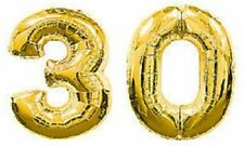 Number 30 Gold Balloons - SALE PRICE - FREE P&P - 30th Birthday Anniversary