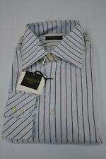 New Corneliani luxury dress shirt striped made in Italy sz 17/43