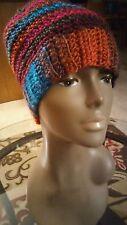 Messy bun crochet hat ponytail
