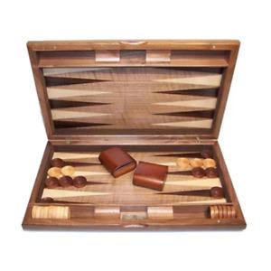 Dal Rossi 15 Walnut Burl Backgammon Set NEW