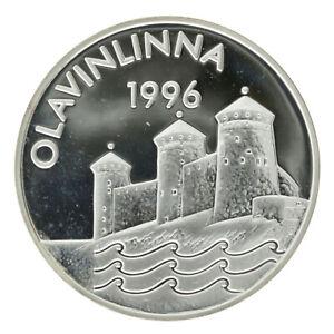Finland - Silver 10 Euro Coin - 'Olavinlinna' - 1996 - Proof