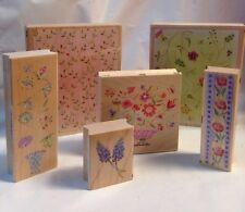 All Night Media Flower lattice vine rose bees border vase Lavender Rubber Stamps