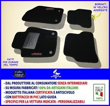 Tappetini Seat Ibiza 2008> 2015> tappeti auto antiscivolo ricami con bottoni set