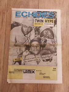 ECHOES MAGAZINE 9 SEPTEMBER 1989 DOUBLE TROUBLE LONNIE GORDON DE-LITE SUNSPLASH