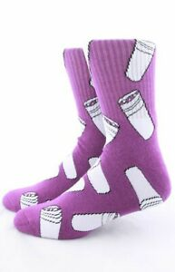 40s & Shorties DOUBLE CUP PURPLE Crew Socks