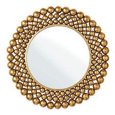 Endon Clayton round mirror Antique gold leaf effect Dia: 710mm Proj: 25mm