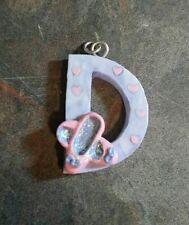 Letter D Ballerina Purple Necklace Pendant Resin 3d Large