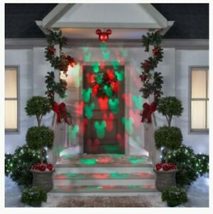 """NEW Magic Holiday MICKEY MOUSE Motionmosaic LED HANGING PROJECTION ORNAMENT 9"""""""