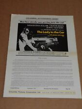"""The Lady In The Car......"" (Samantha Eggar/Oliver Reed) 1970 UK Campaign Sheet"