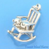 Brouette Jardin outil 3D 925 Solid Sterling Silver Charm Barrow made in USA