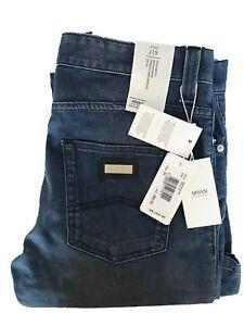 $395 NWT! ARMANI COLLEZIONI Blue JEANS PANTS J15 Regular Fit Sz. 30x34 5 pocket