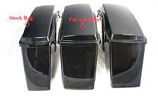 Mutazu Fat Ass Wide Width Hard Saddlebag Fits Harley HD Touring Models,Lid+Base