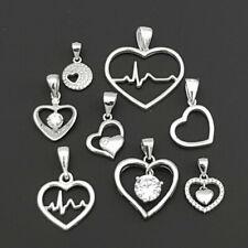 Echt 925 Sterling Silber Herz Herzchen Anhänger Herzanhänger