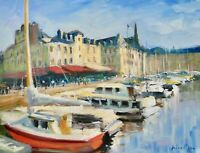 11X14 Original Oil Painting Askart Listed Artist Nino Pippa Normandy Honfleur
