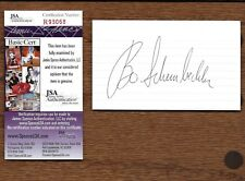 Bo Schembechler Michigan Wolverines Autographed Signed 3x5 Index Card JSA Cert.