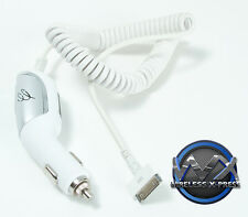 Fast Car Charger w/ Blue LED for Apple iPhone 4, iPod (30 Pin Connection)