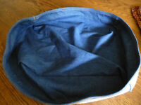 Longaberger Denim Fabric Liner for the Letter Tray Basket EUC
